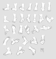 Sketchdump October 2016 [Feet] by DamaiMikaz