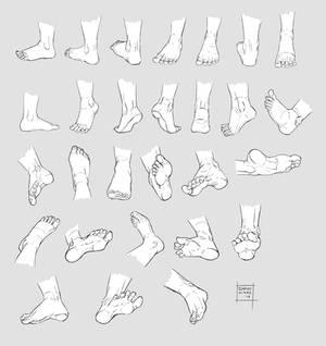 Sketchdump October 2016 [Feet]