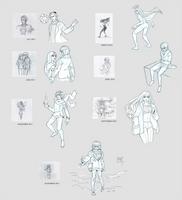 Sketchdump December 2016 [Draw this again] by DamaiMikaz
