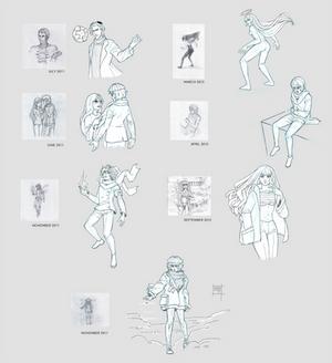 Sketchdump December 2016 [Draw this again]