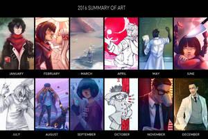 2016 summary of art by DamaiMikaz