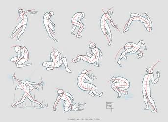 Sketchdump February 2017 [Dynamic poses]