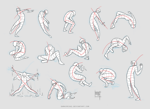 Sketchdump February 2017 [Dynamic poses]