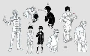 Sketchdump April 2017 [Random sketches] by DamaiMikaz