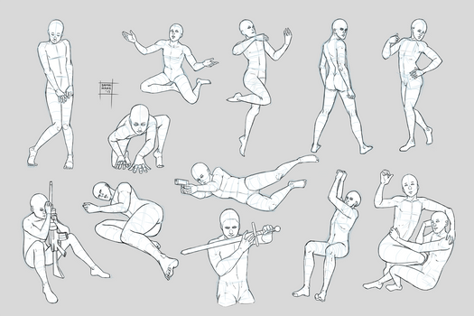 Sketchdump June 2017 [Poses 1]