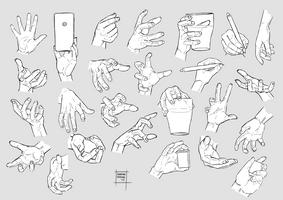 Sketchdump December 2017 [Hands]