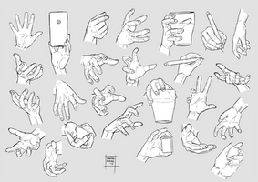 Sketchdump December 2017 [Hands]