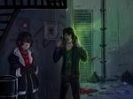 Meeting in a dark alley