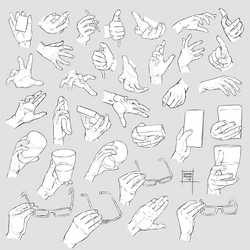 Sketchdump January 2018 [Hands]