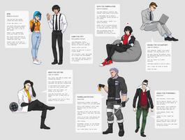 Characters - Neorasa crew by DamaiMikaz