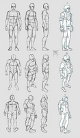 Sketchdump July 2018 [Anatomy and perspective]