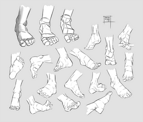 Sketchdump August 2018 [Feet] by DamaiMikaz