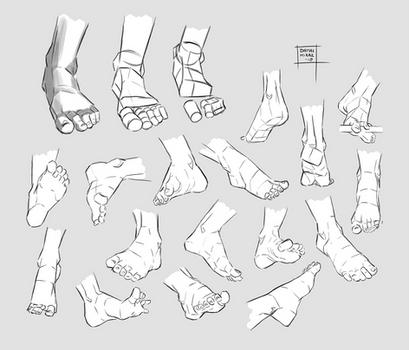 Sketchdump August 2018 [Feet]