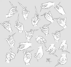Sketchdump December 2018 [Hands with syringe]