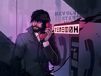 Paranoid phonecall by DamaiMikaz