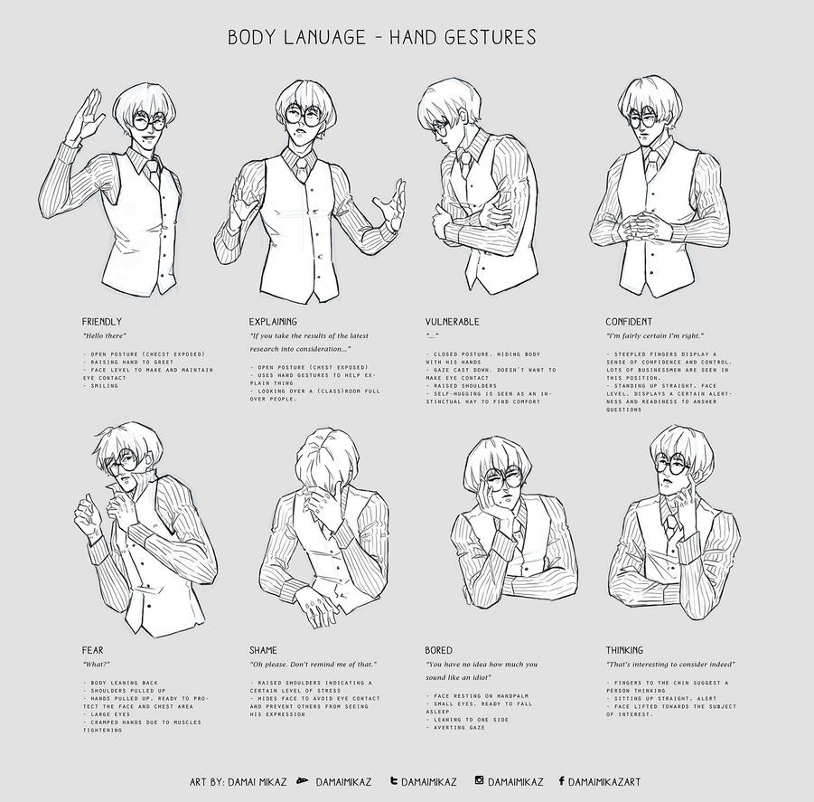 Body Language - Hand gestures by DamaiMikaz on DeviantArt