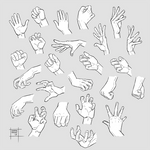 Sketchdump October 2019 [Hands] by DamaiMikaz