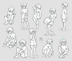 Sketchdump December 2019 [Child poses]