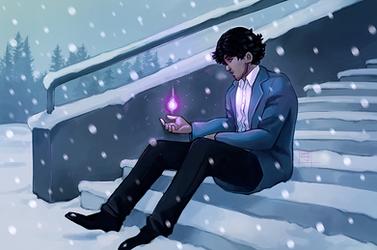 Karim in the snow