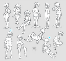 Sketchdump January 2020 [Child poses]