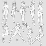 Sketchdump February 2020 [Female poses]