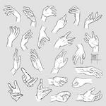 Sketchdump February 2020 [Hands] by DamaiMikaz