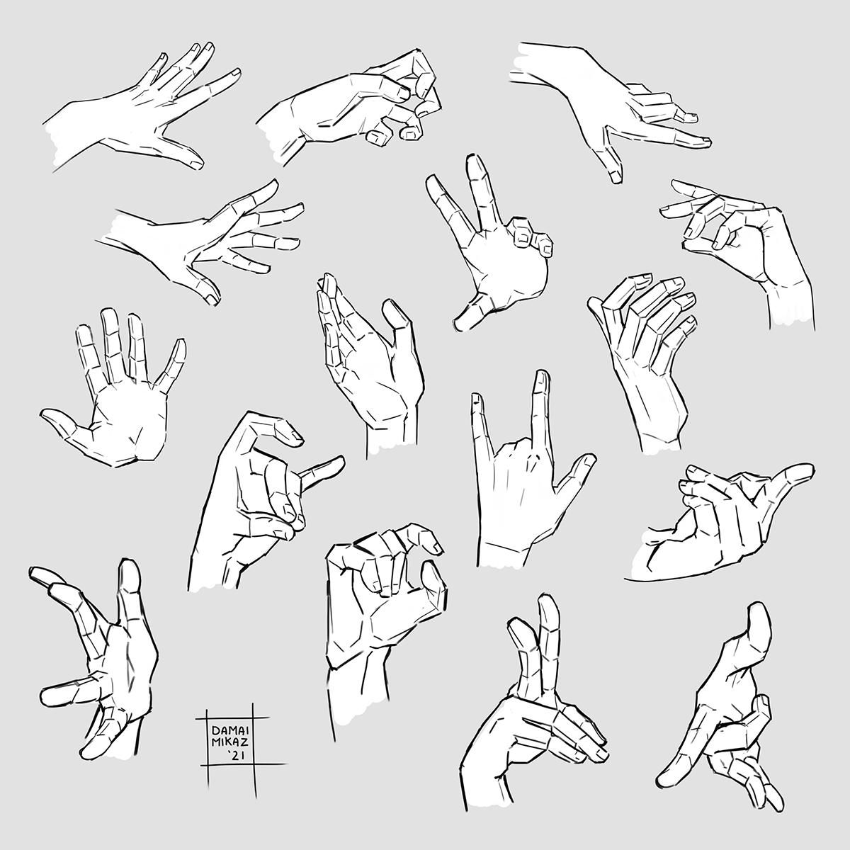 Sketchdump July 2021 [Hands]