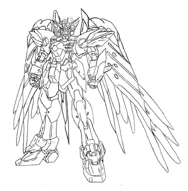 Gundam Wing Zero Drawing Gundam Wing Zero Custom By Buqui On