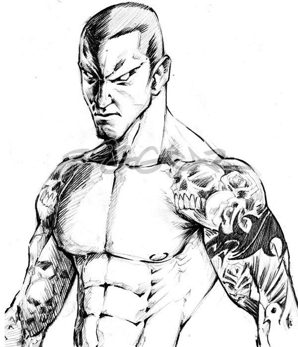 Randy Orton Coloring Pages Coloring Pages