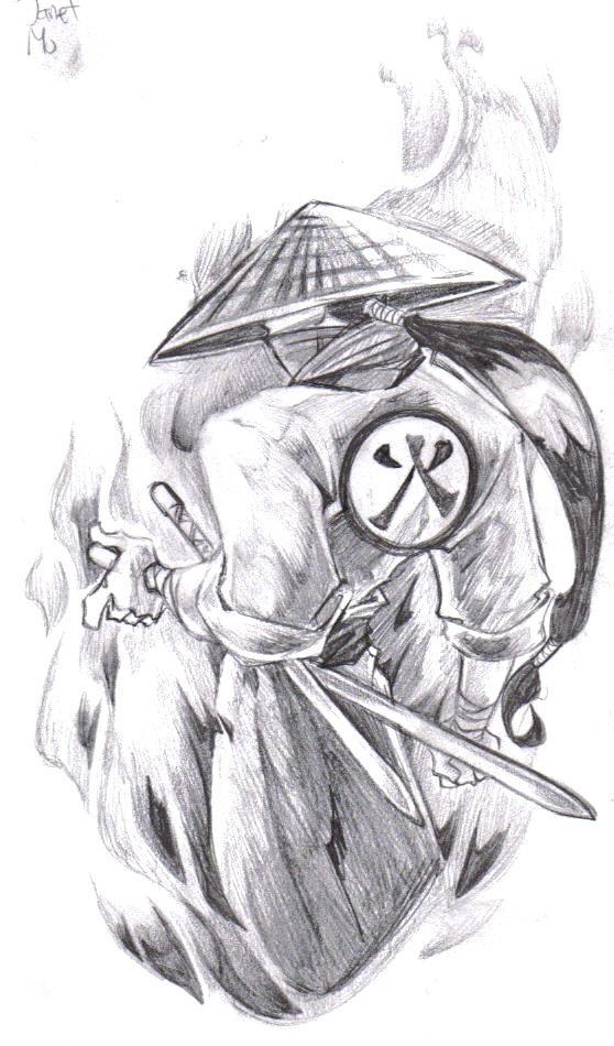 Samurai Tattoo Design by ~BiggCaZ on deviantART