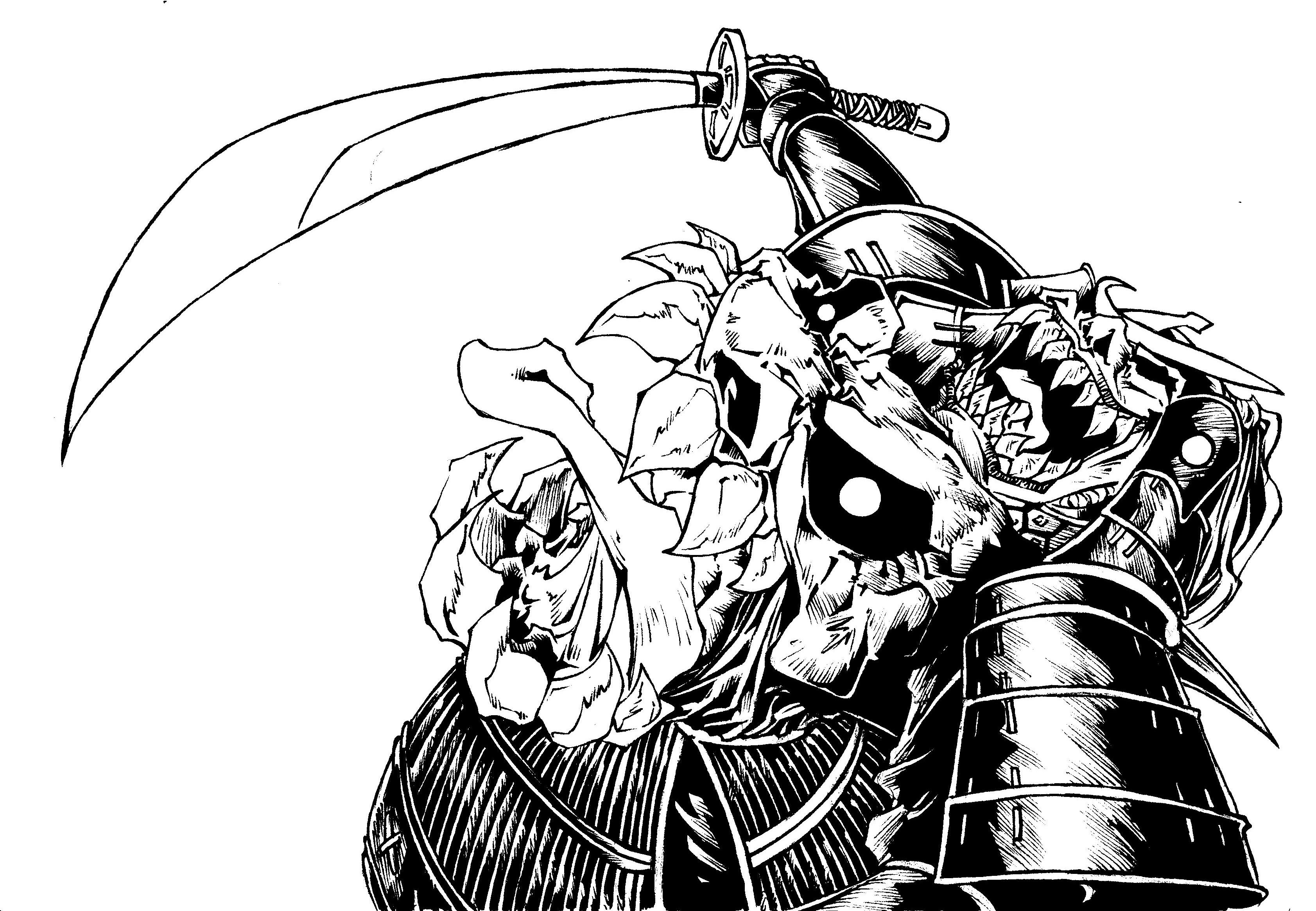 demon samurai bishamon revised by biggcaz on deviantart