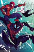 Spider-Friends by BiggCaZ