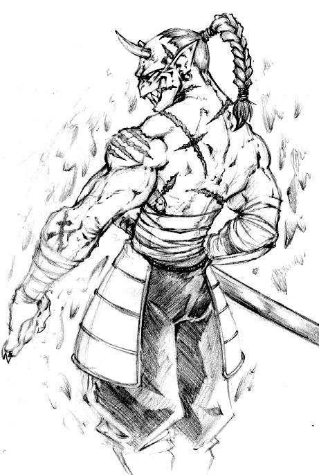 demon samurai by biggcaz on deviantart