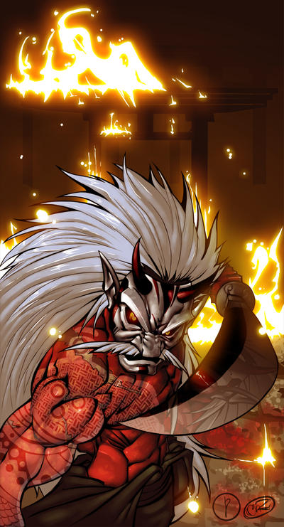 Demon Samurai - Pancreas Colab by BiggCaZ