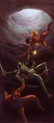 John Carter of Mars - Cavern Fight by rmohr