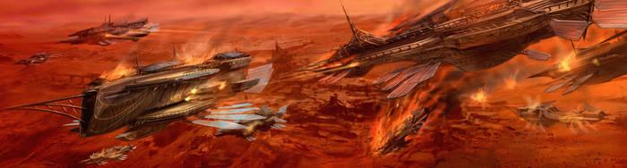John Carter of Mars -Air Battle by rmohr