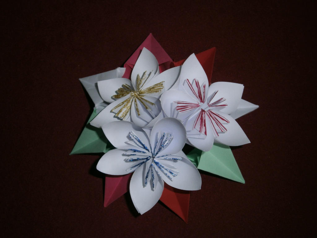origami flower on origami magic circle by lola22 on deviantart