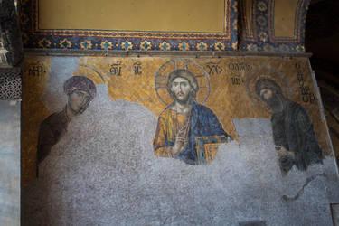 Hagia Sophia wall by Lola22