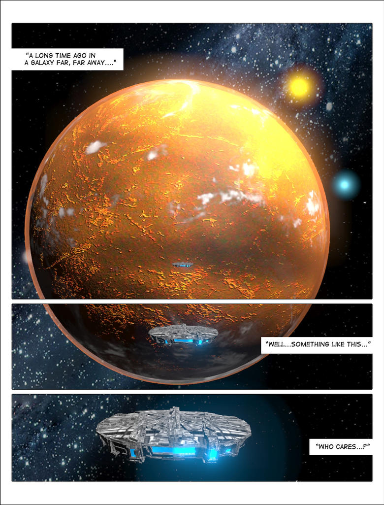Another space scene comic book style by jgordinho on for Outer space scene