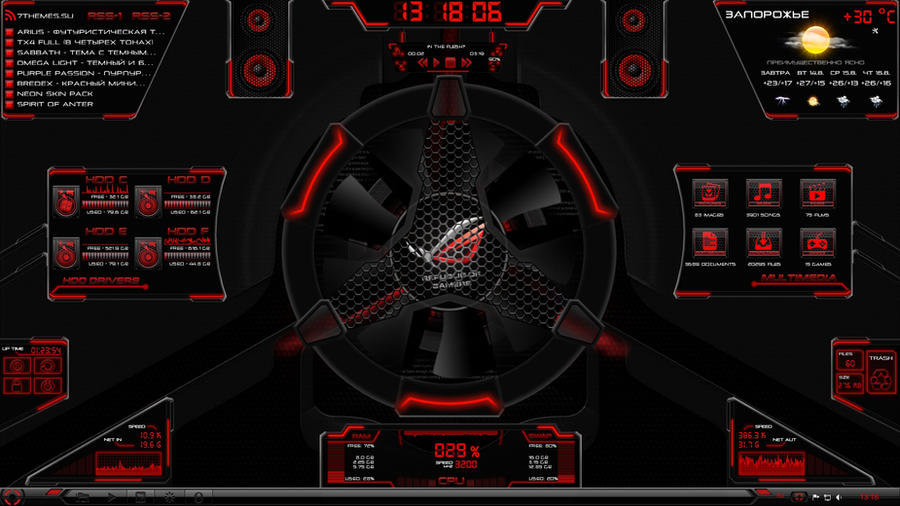 Hardware Rainmeter by sg2142