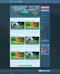 Minecraft Server Site Design
