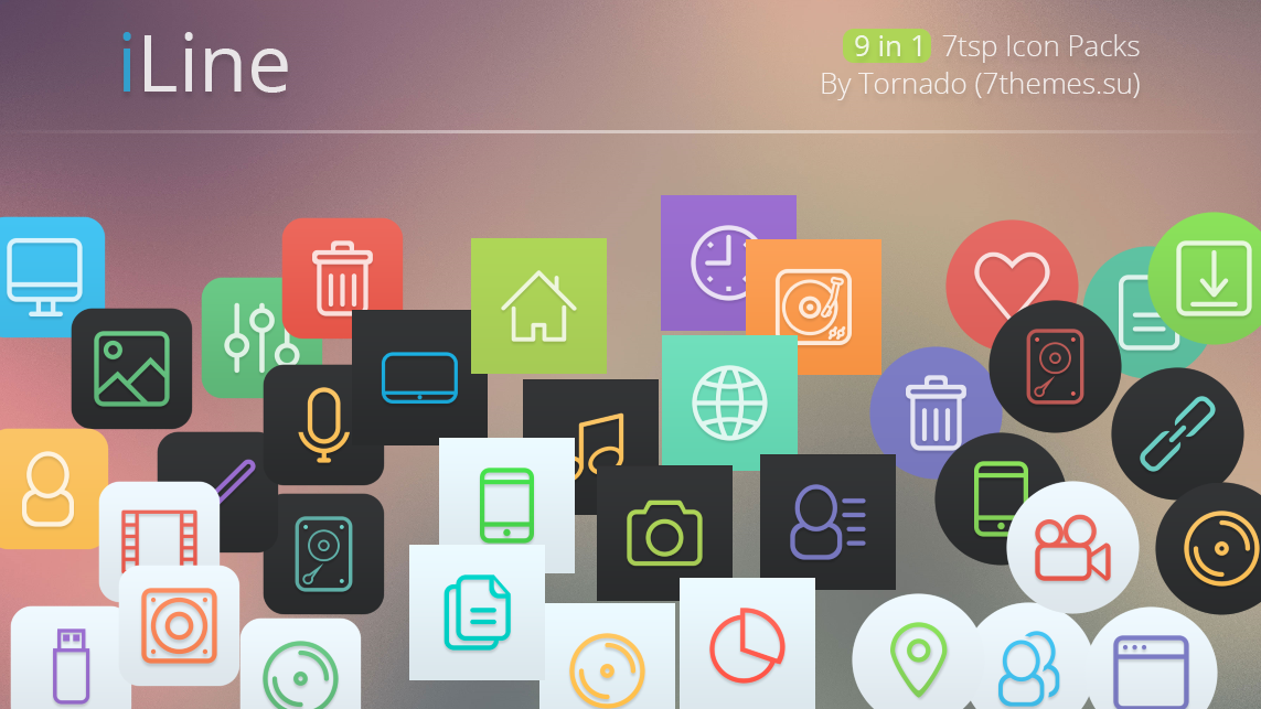 iLine IconPack for Win7/8.1/10