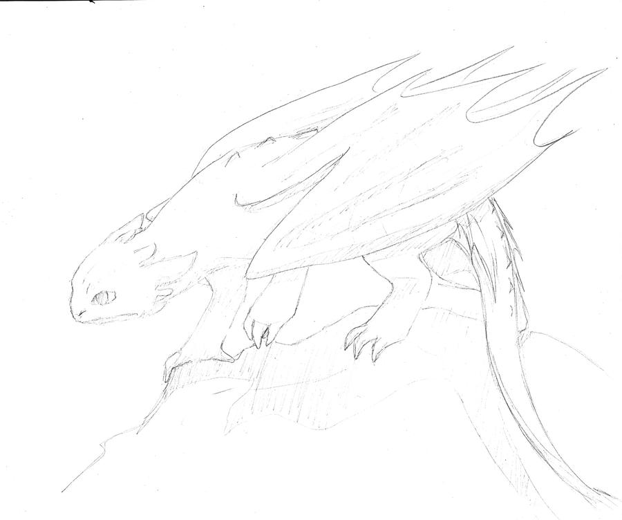 Night Fury sketch I of III by AbsentmindedGenis on DeviantArt