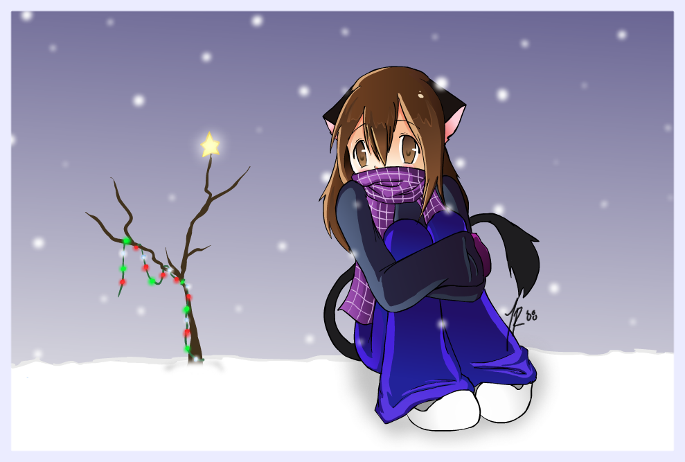 Winter Neko by Neko-Onigiri
