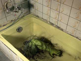 Bathroom Traveler by Super-Her0