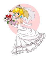 Princess Peach (Bridal) - Super Mario Odyssey by Daloween