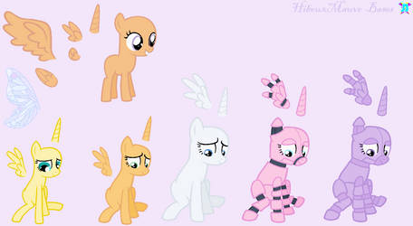 Mega Set Base - Ponies  + Animatronic Ponies by HibouxMauve