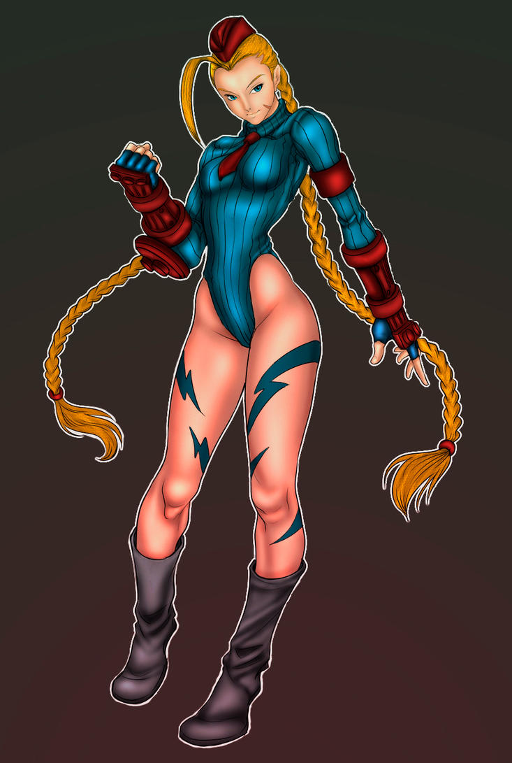 Cammy Lineart by art gem/ colors by me by SaintMistery