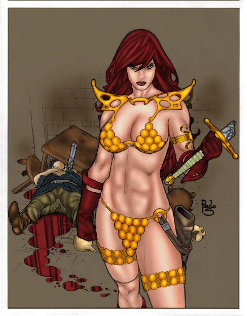 Red Sonja (Paulo Siqueira Drawings) by SaintMistery