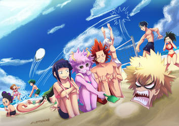 BNHA beach pic by Jeffanime